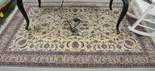 "Oriental area rug (some staining) 6'2"" x"