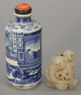 Two piece lot including Chinese blue and