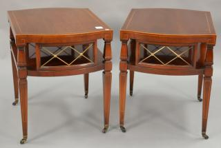 Two mahogany Weiman end tables.  Two mahogany