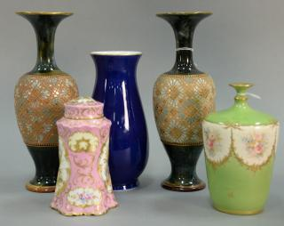Five porcelain pieces to include Dresden