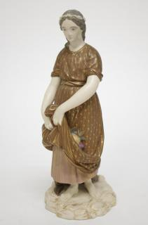 Antique Royal Worcester Porcelain Female