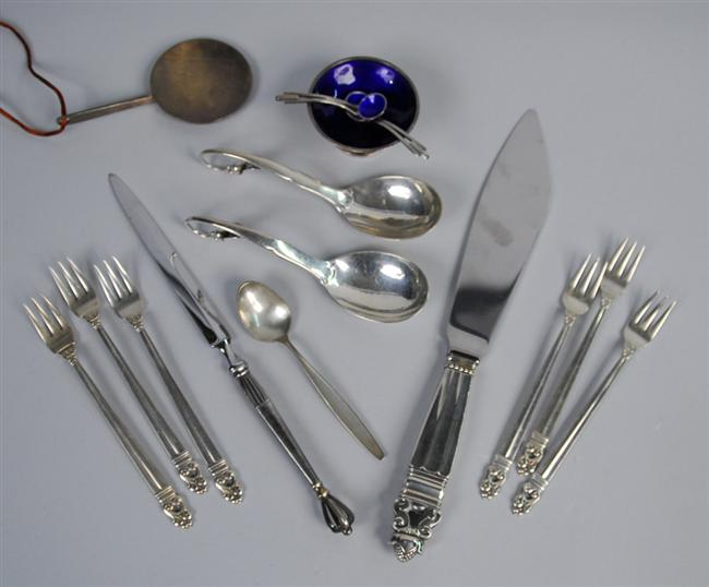 ASSEMBLAGE OF DANISH SILVER, Jensen and other