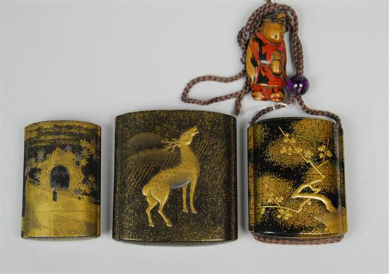 THREE JAPANESE LACQUER INRO,