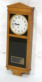 INGRAHAM Oak Wall Clock. Simple Mission Style