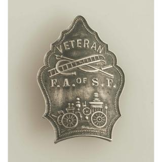 S.F. Firefighters Veteran Sterling Badge