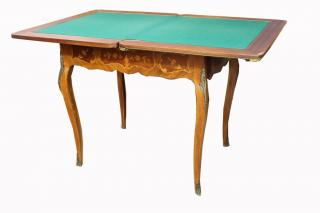 Exceptional Antique French Game Table  An