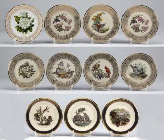 (11) Boehm for Lenox China cabinet plates,
