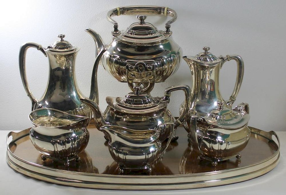 STERLING. 7 Pc. Tiffany & Co. Sterling Tea