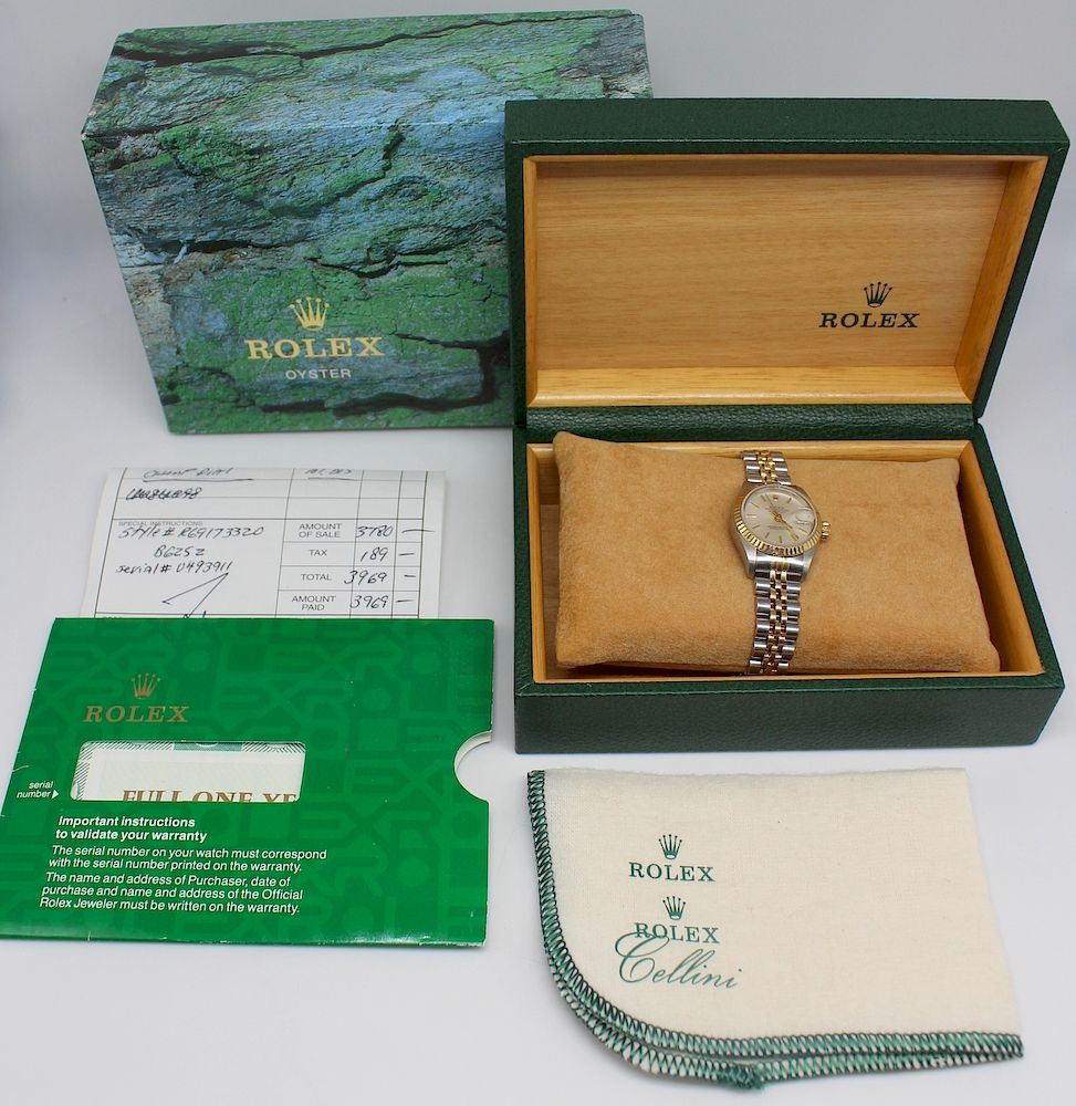 JEWELRY. Ladies Rolex Oyster Perpetual Watch.