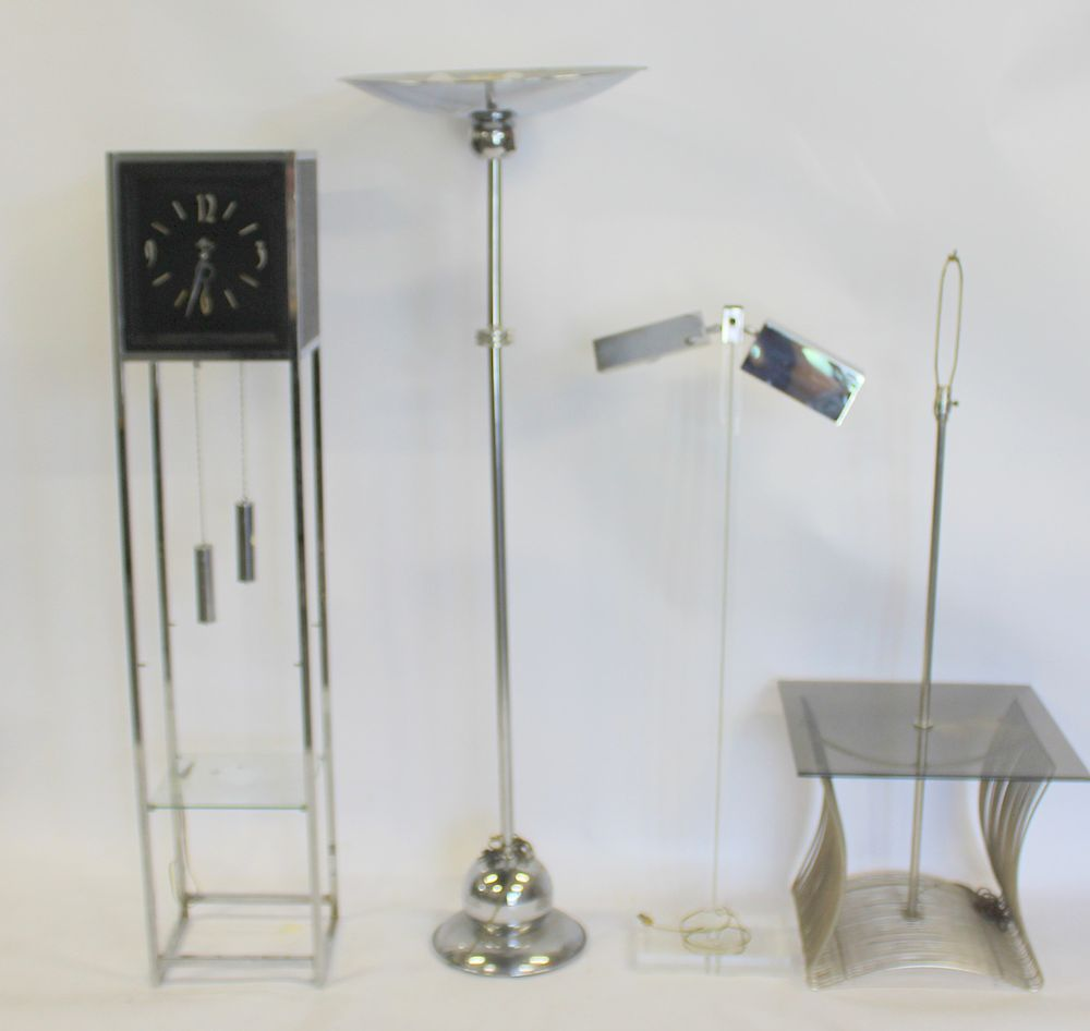 MIDCENTURY. Lot of Chrome and Lucite Items.