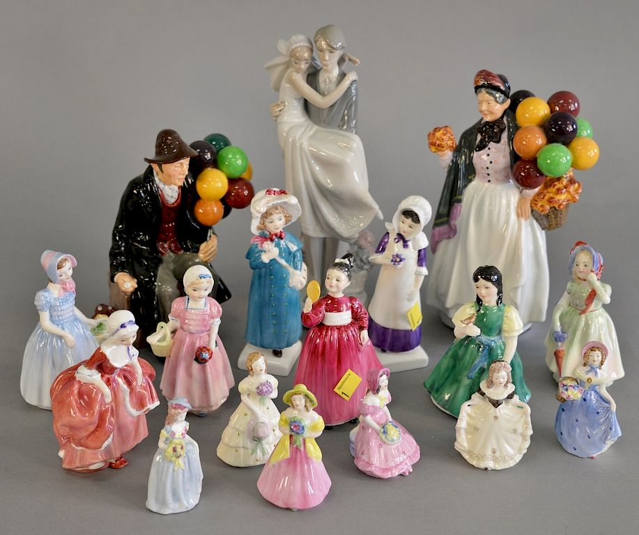 Figural porcelain group to include Royal