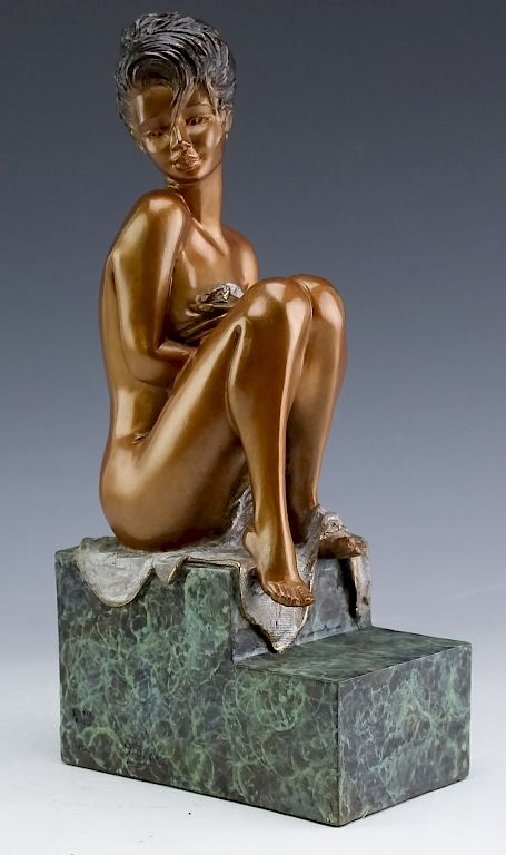 Modern Figural Female Nude Bronze LE Art