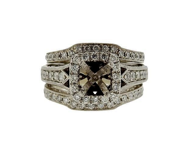 Neil Lane 14K Gold Platinum Diamond Bridal