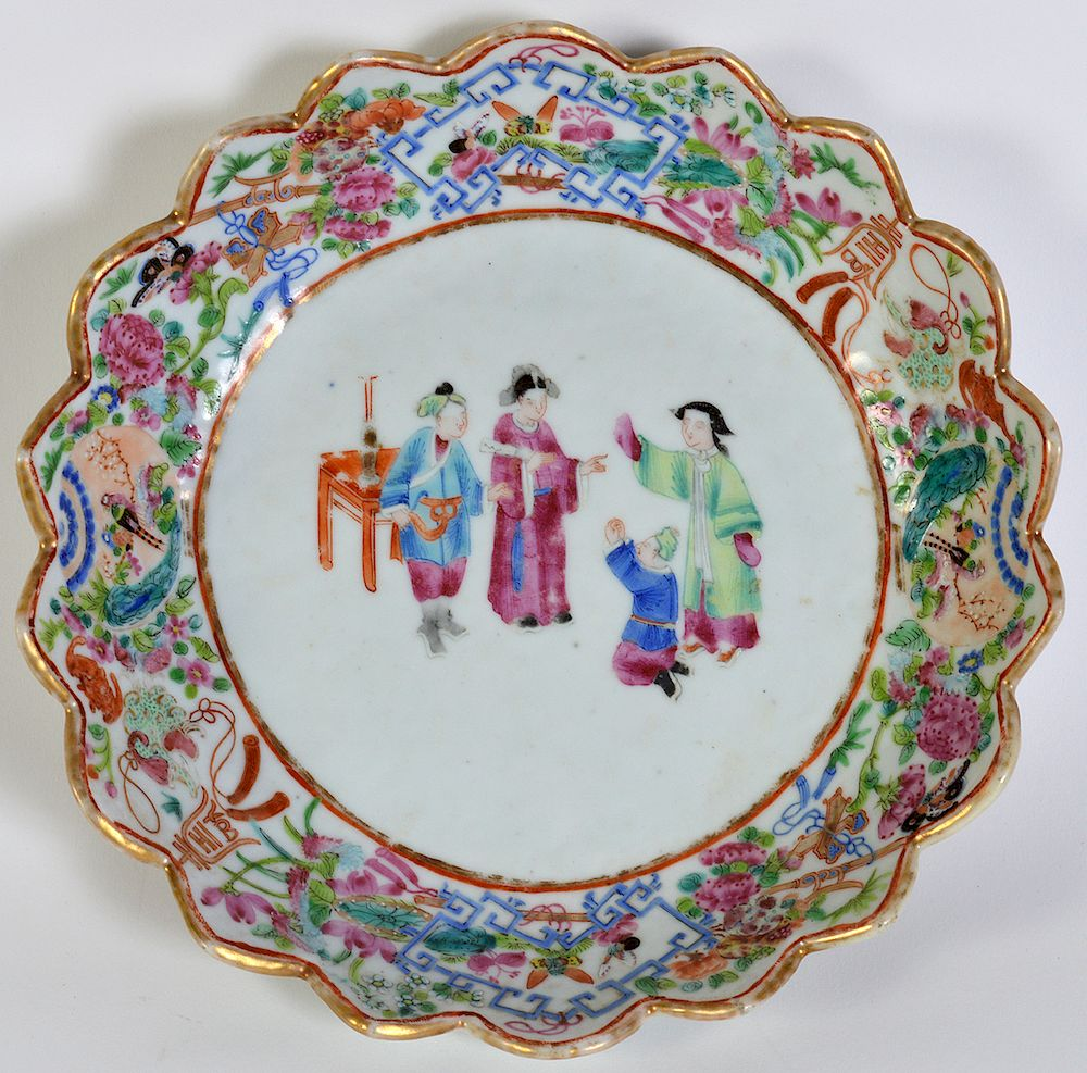 Chinese Export Shallow Bowl:  Chinese Export
