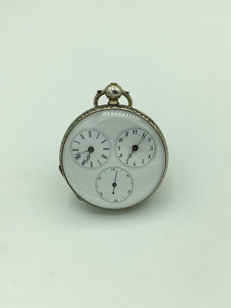 Rare 1820-1830 Captains Dual Time Pocket