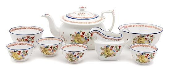 An English Porcelain Partial Dessert Service