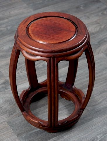 Chinese Drum Form Garden Seat:  Chinese wooden