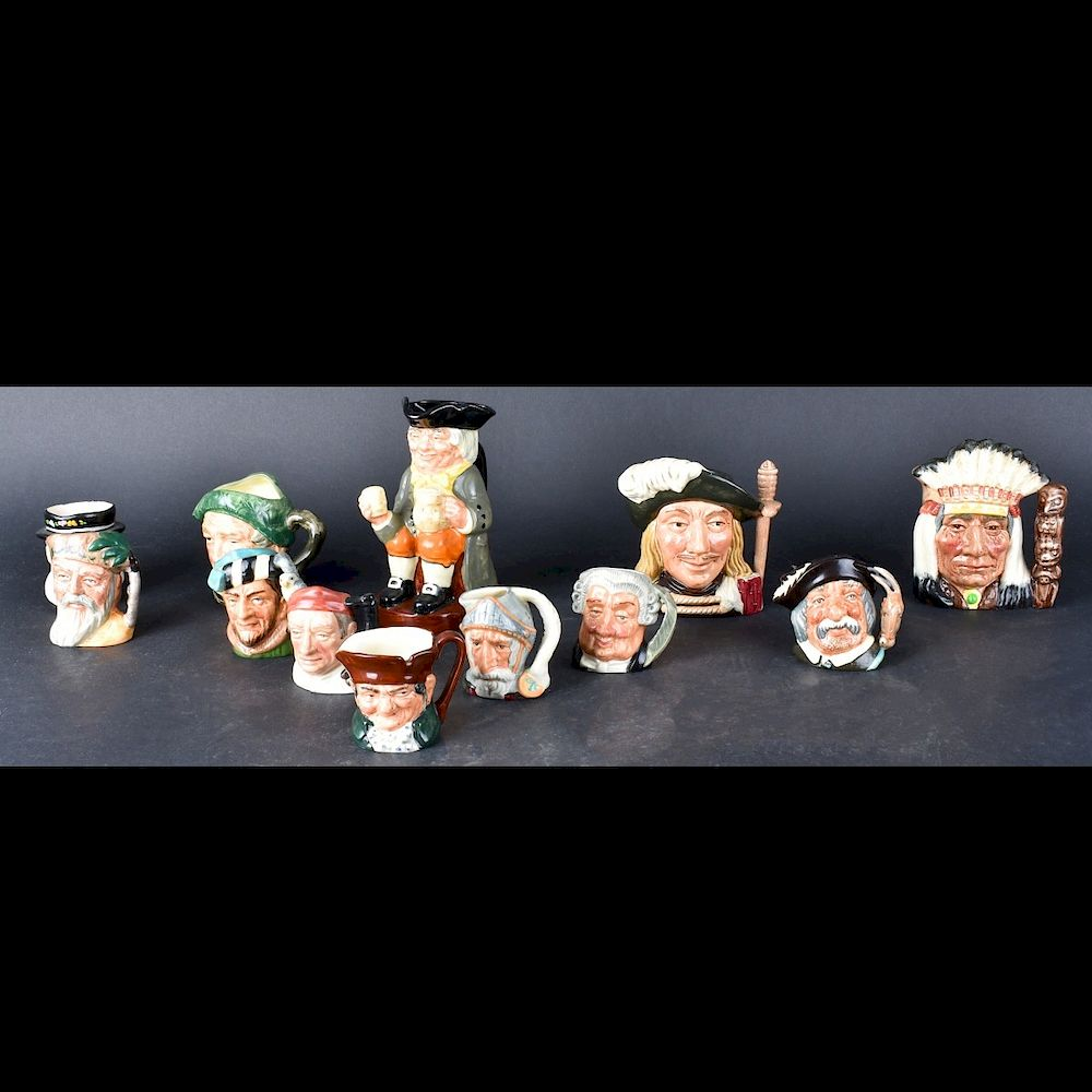 Collection of Twelve (12) Toby Mugs:  Collection