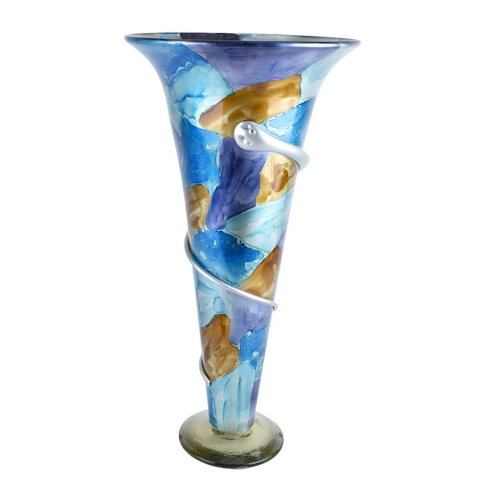 Large Art Glass Vase:  Large Contemporary