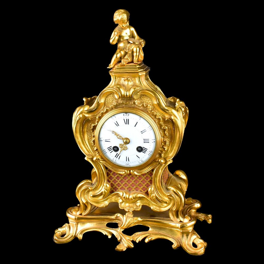 Tiffany & Co Mantle Clock:  A Louis XV Style