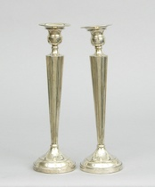 335. A Pair of Sterling Silver Candlesticks