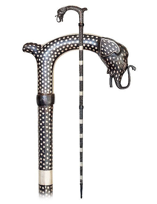 138. Rajasthan Cane -20th Century -All steel