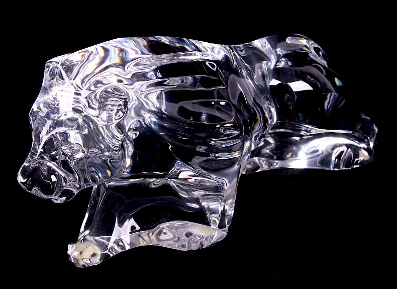 Baccarat Crystal Lion Sculpture:  This item