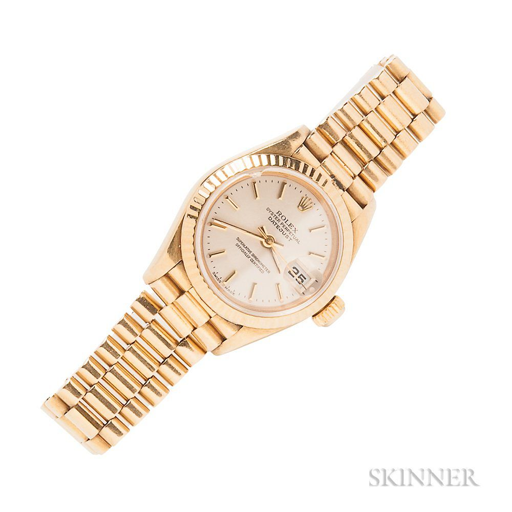 "Lady's 18kt Gold ""Oyster Perpetual Datejust"""