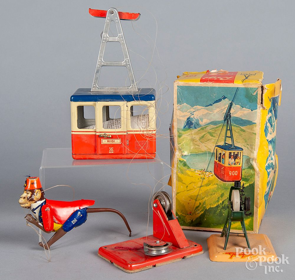 Two Lehmann tin windup toys:  Two Lehmann