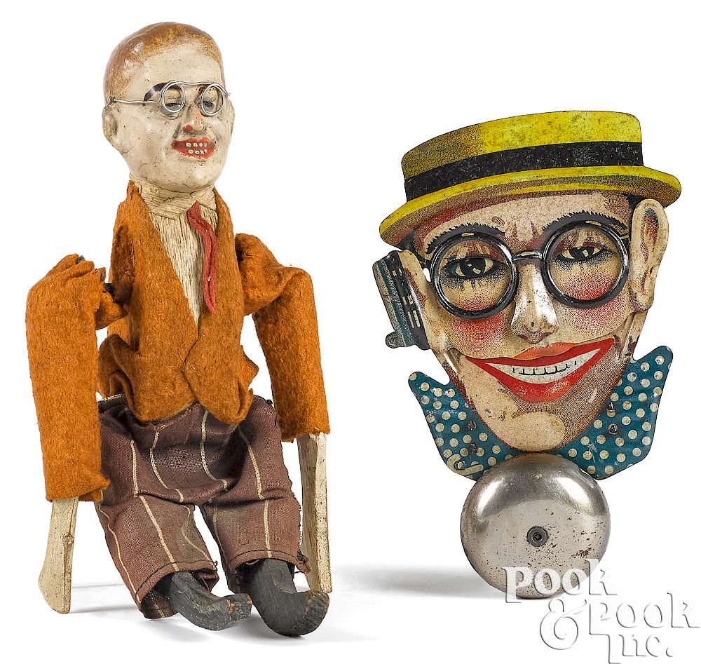 Two Harold Lloyd character toys:  Two Harold