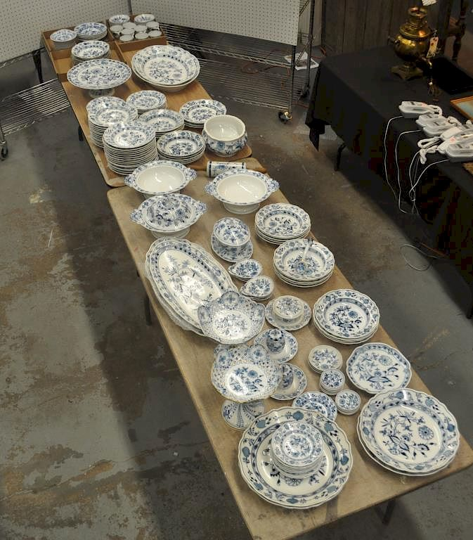 Meissen Porcelain B/W Partial Dinner Service: