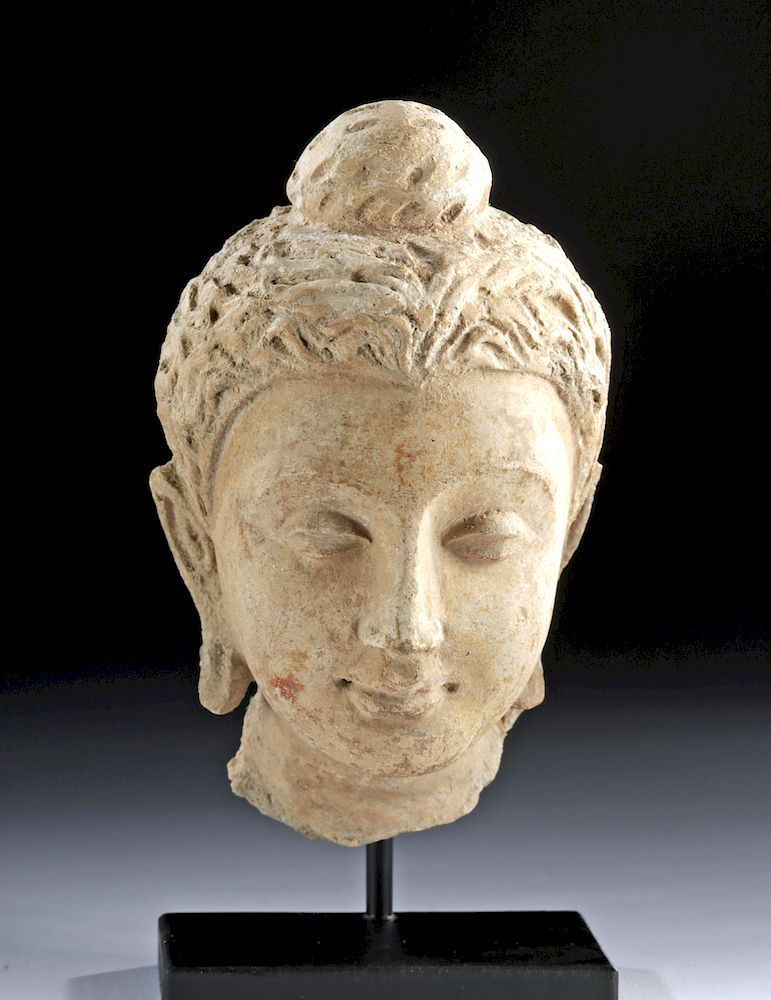 Lovely Gandharan Stucco Head of Buddha: