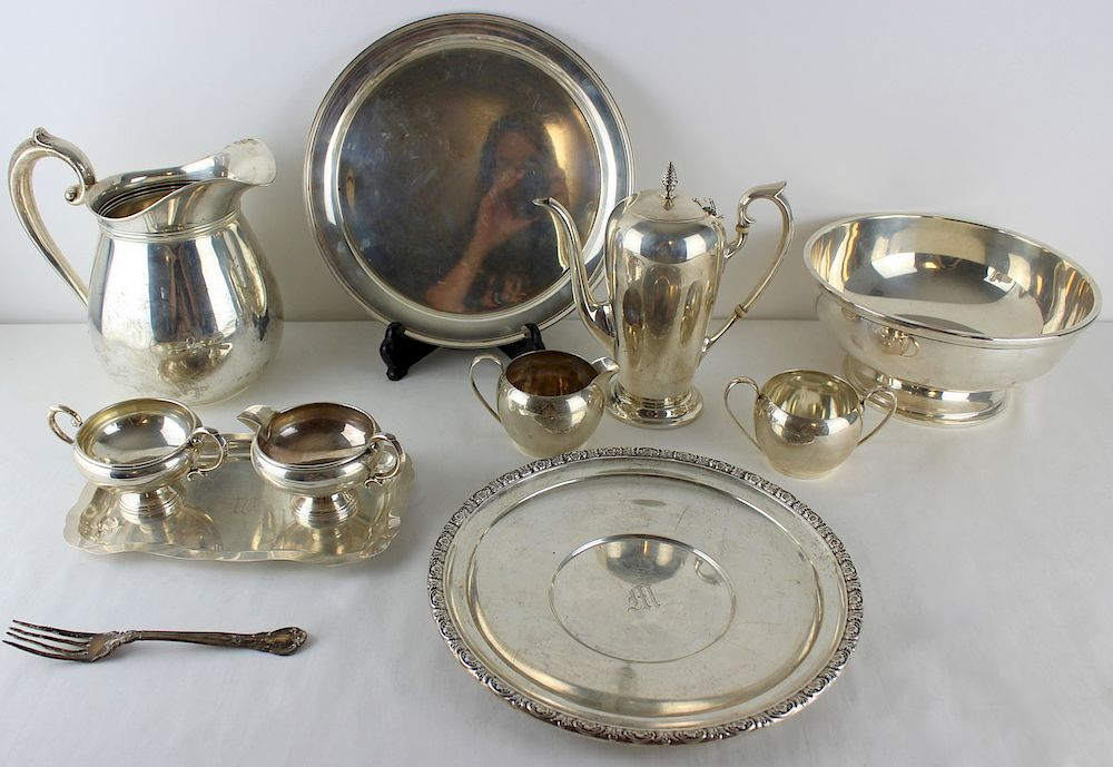 STERLING. Assorted Sterling Hollow Ware Grouping.