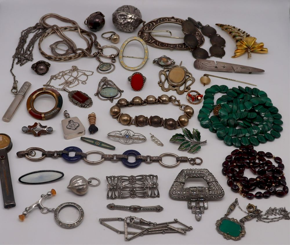 JEWELRY. Assorted Vintage Jewelry Grouping.