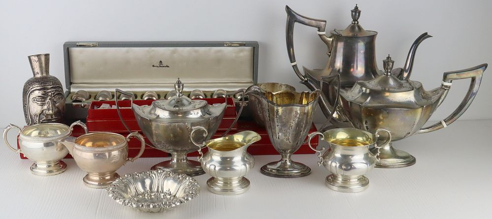 STERLING. Assorted Silver Hollow Ware Grouping.