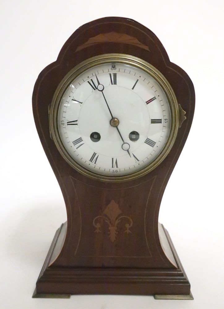 French Lobed Balloon Mantel Clock, Late 19C: