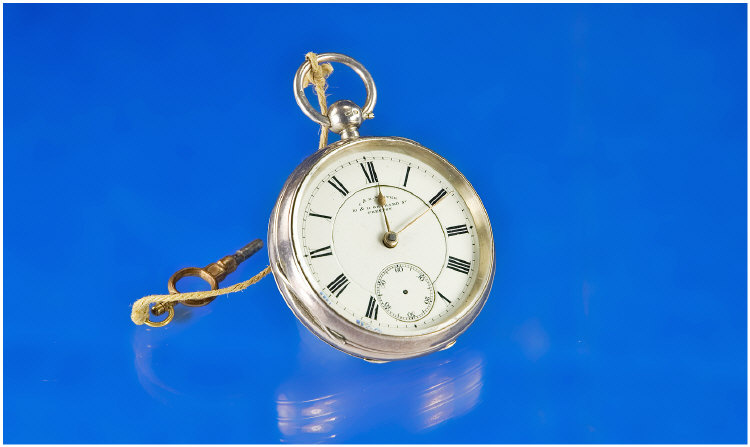 Waltham Silver Open Faced Pocket Watch. White