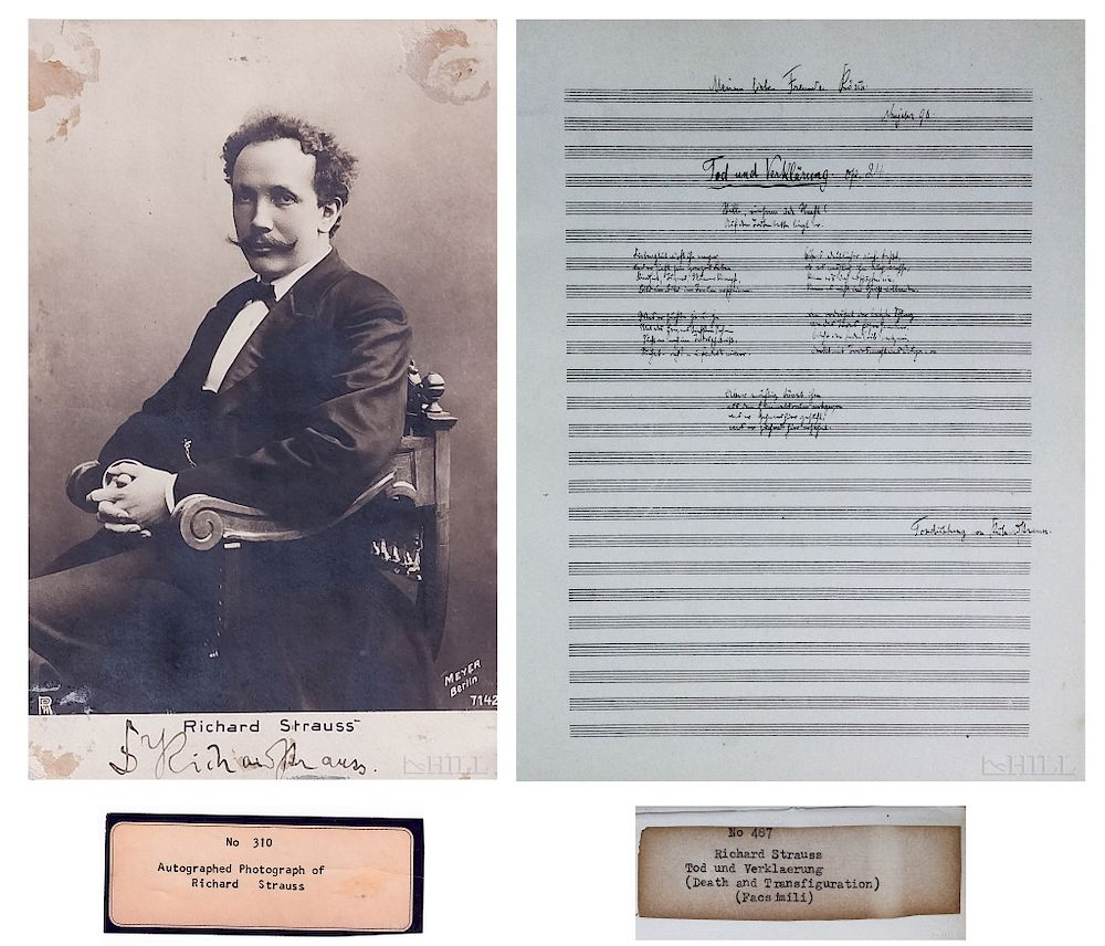 Richard Strauss Autographed 1900 Photograph