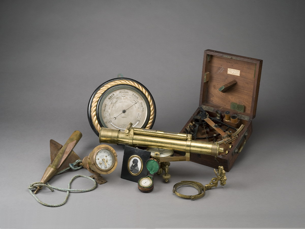 CASED SEXTANT AND CASED COMPASS.