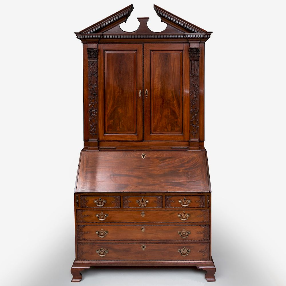 Fine and Rare Chippendale Carved Mahogany