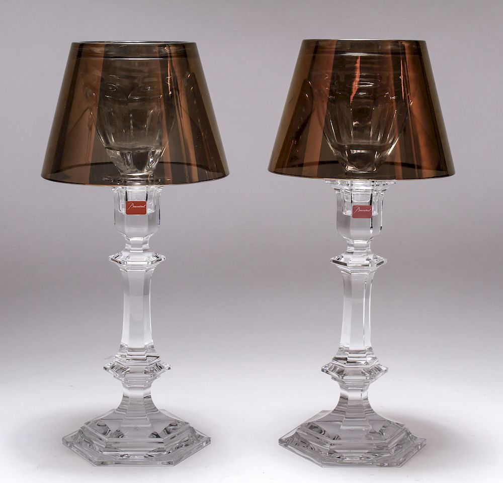 Phillipe Starck for Baccarat Crystal Candleholders: