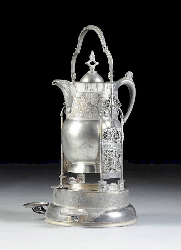 AN ANTIQUE AMERICAN SILVER PLATED LEMONADE