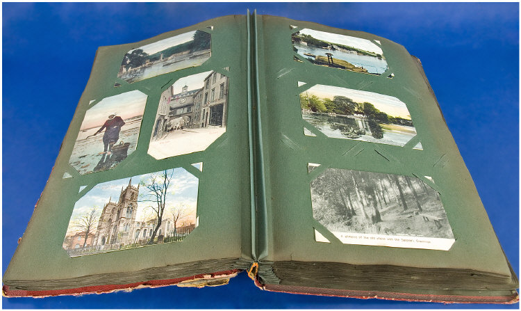Post Card Album, Containing Approx 325 Mostly