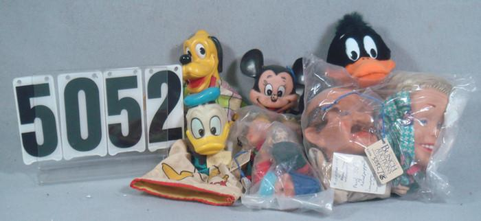 Hand Puppets lot, German scheithauef, mickey