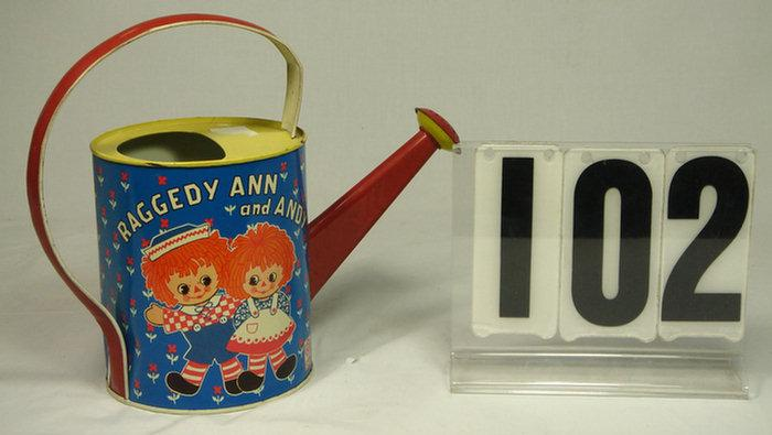 Chein 1973 Raggedy Ann & Andy tin litho water