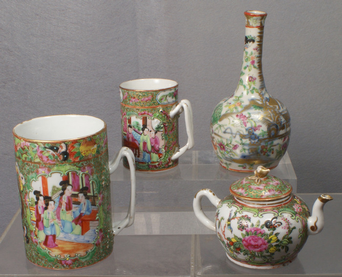 Chinese export porcelain, lot of 4 to include: