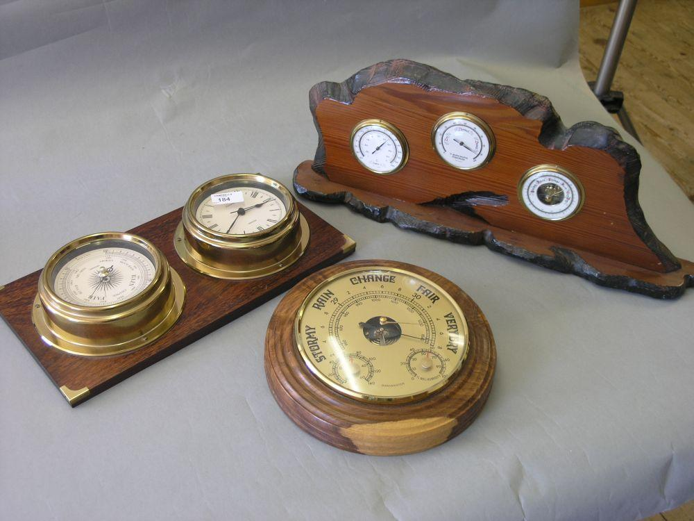 A Baromaster aneroid wall barometer, two