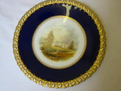 A PAIR OF VICTORIAN CHINA CABINET PLATES