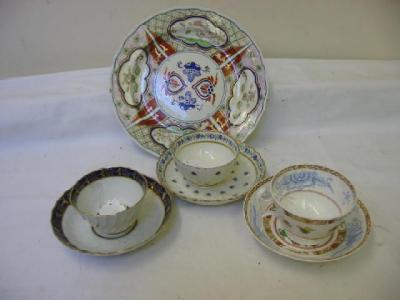 A B.F.B. WORCESTER PORCELAIN TEA BOWL AND