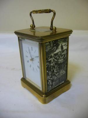 A SWISS CARRIAGE CLOCK, the movement with